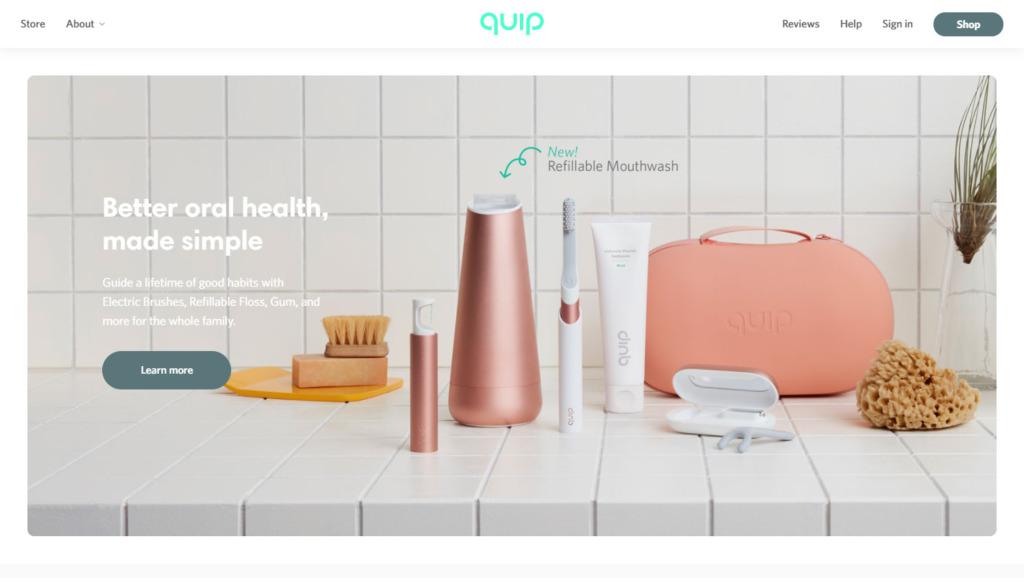 アメリカ発おしゃれな電動歯ブラシのサブスク「Quip」